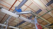 Damper manually operated over 2 m